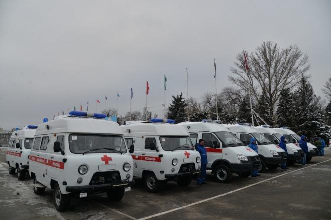 Ртищевскому району вручили новую машину скорой помощи