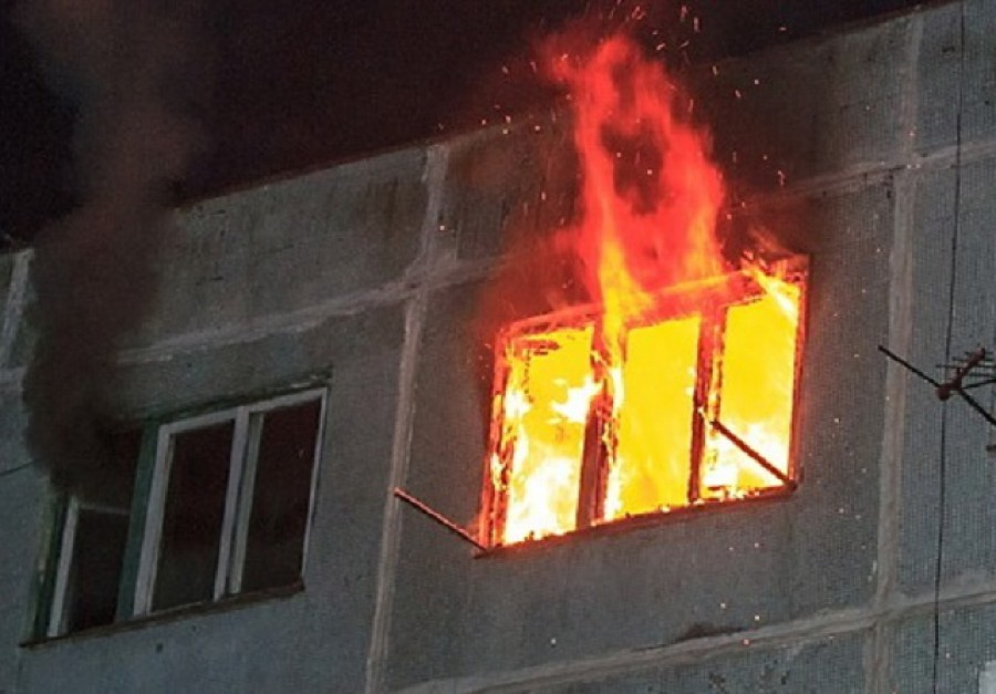 В квартире на Первомайской случился пожар