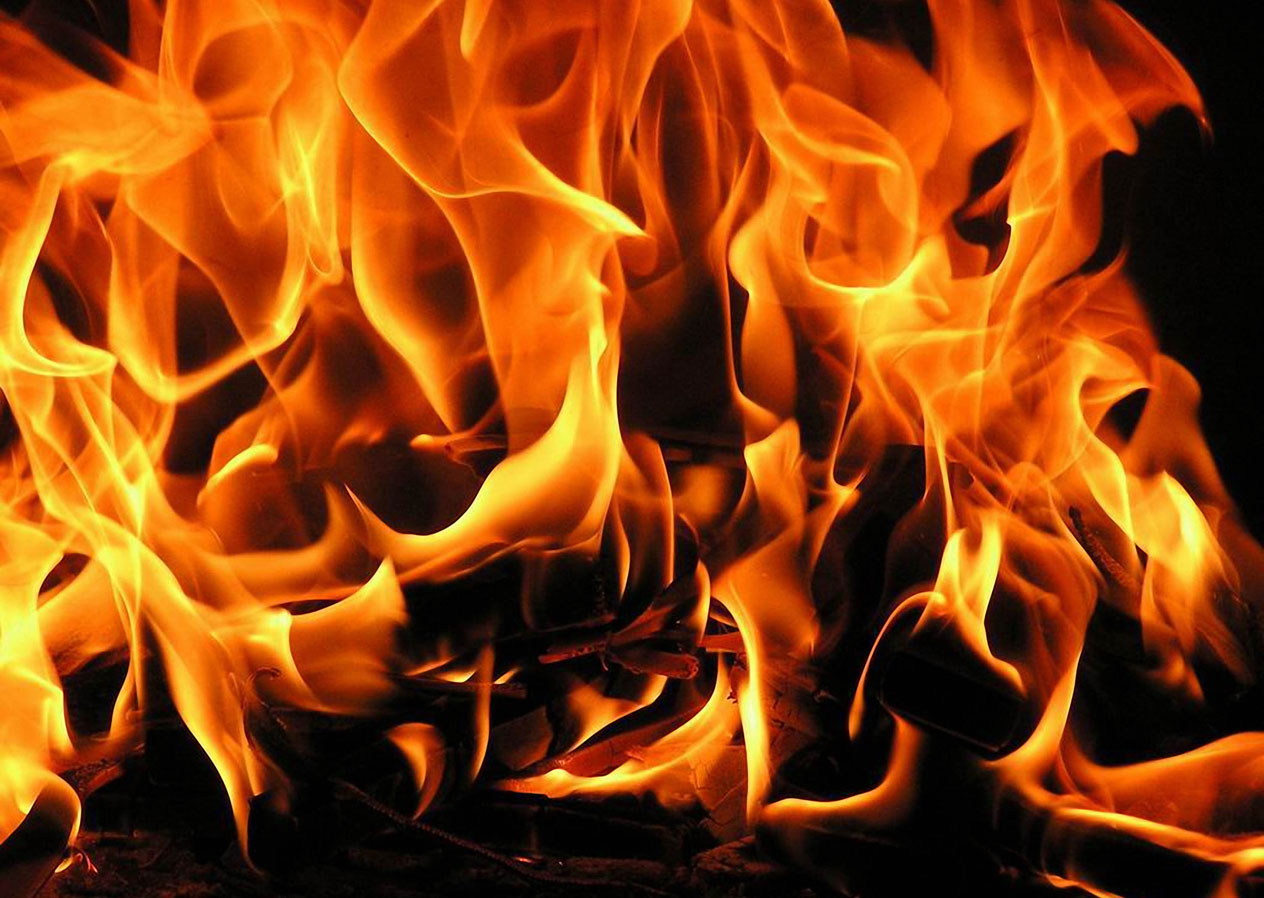 В Ртищево пожар уничтожил надворные постройки