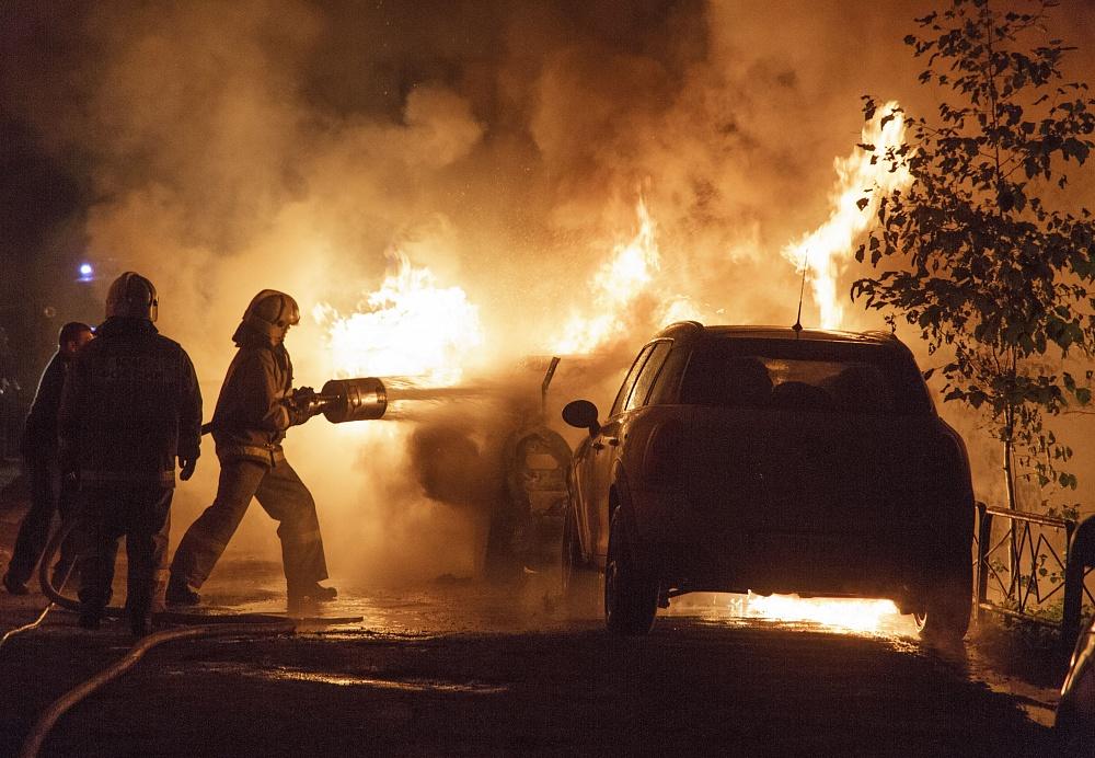 Ночью в Потьме сгорел автомобиль