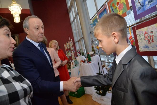 Ртищевский школьник посетил Губернаторскую ёлку