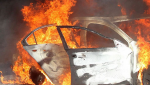 На Горной пожар уничтожил иномарку