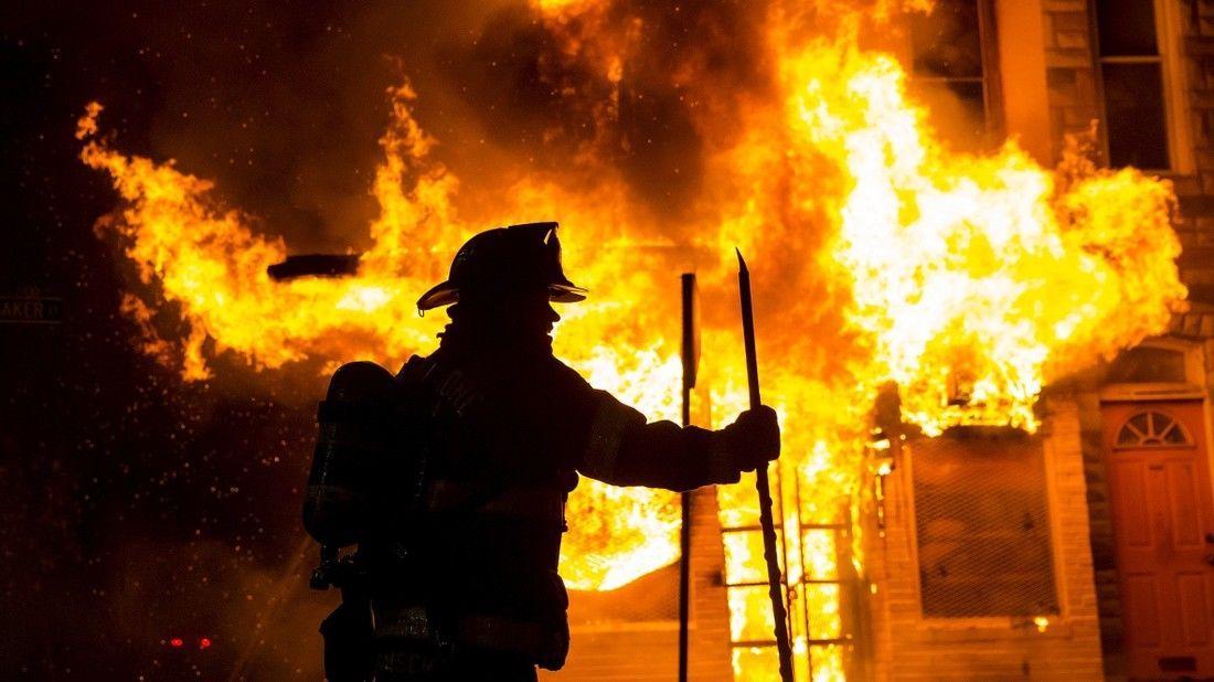 В выходные в Ртищеве произошел крупный пожар