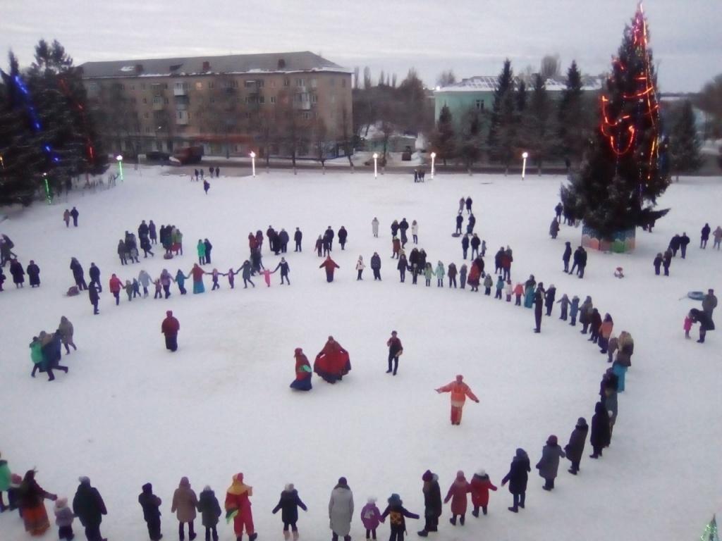 Ртищевцы встретили Рождество на площади ГКЦ