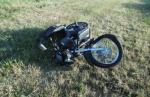 Мотоциклист превысил скорость и улетел в кювет