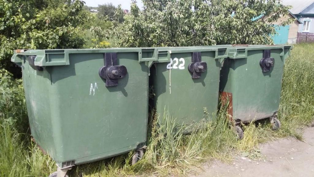 В частном секторе установлены мусорные контейнеры