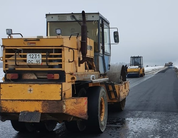 В Ртищевском районе продолжается строительство дороги к хутору Березовый