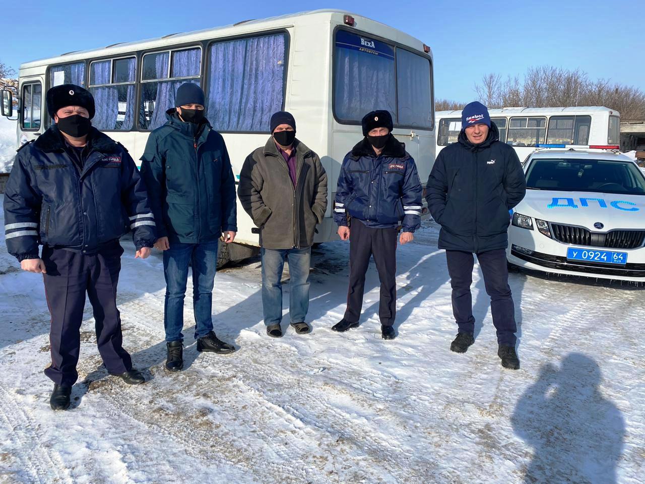 Сотрудники ГИБДД провели беседы с водителями автобусов