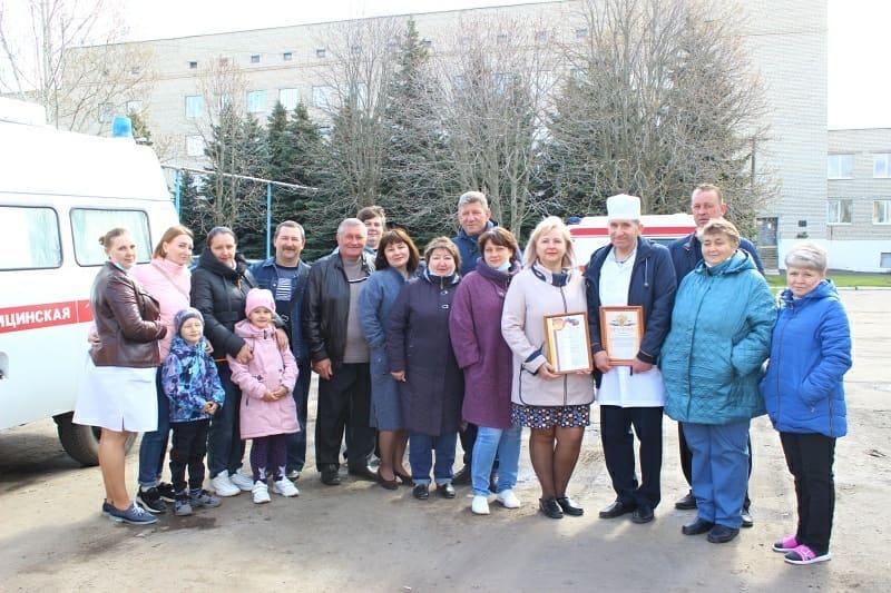 В районной больнице поздравили работников скорой помощи
