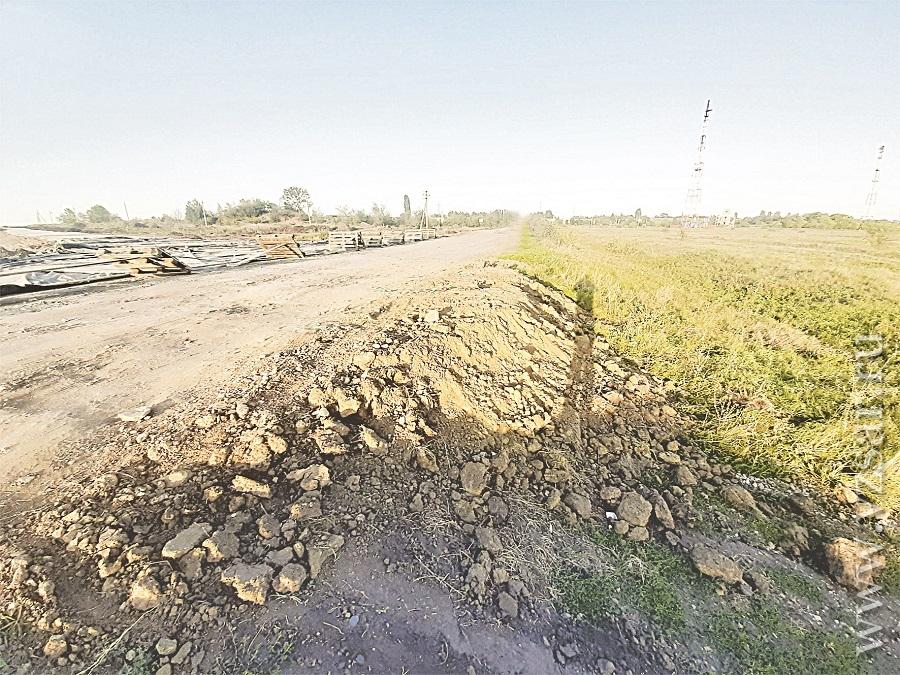 В Ртищевском районе заблокировали строительство дороги за спонсорские средства