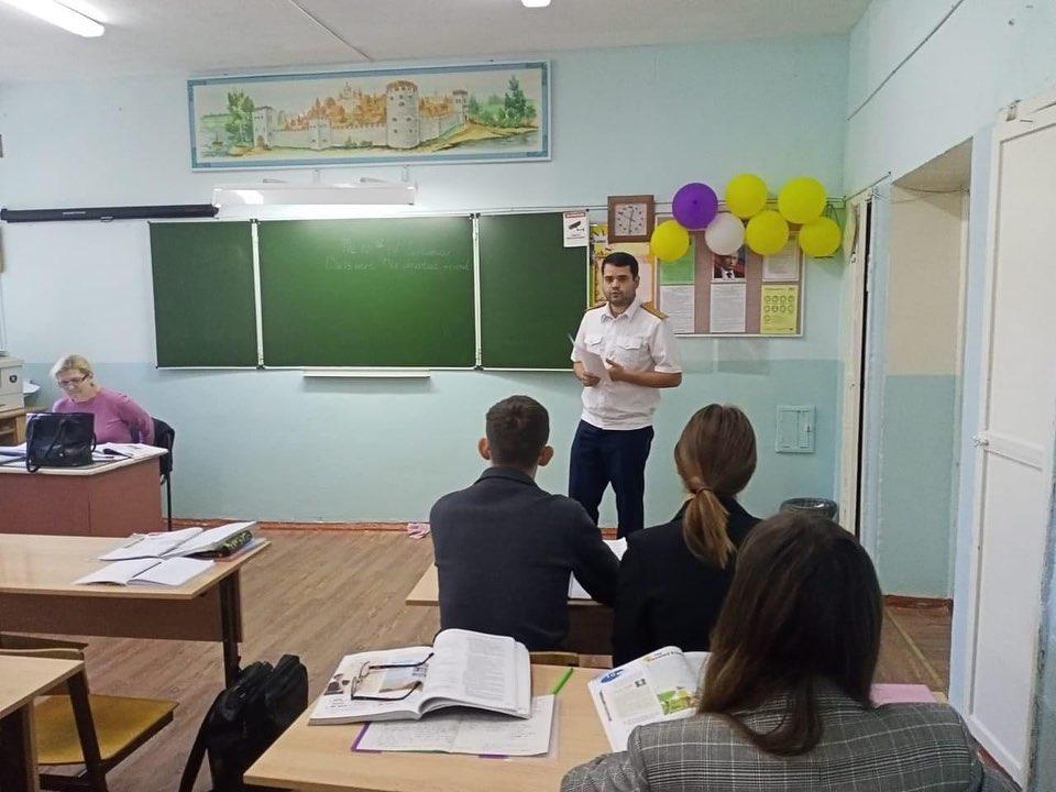 Следователь СК выступил с лекцией для учащихся МОУ СОШ № 7 г. Ртищево