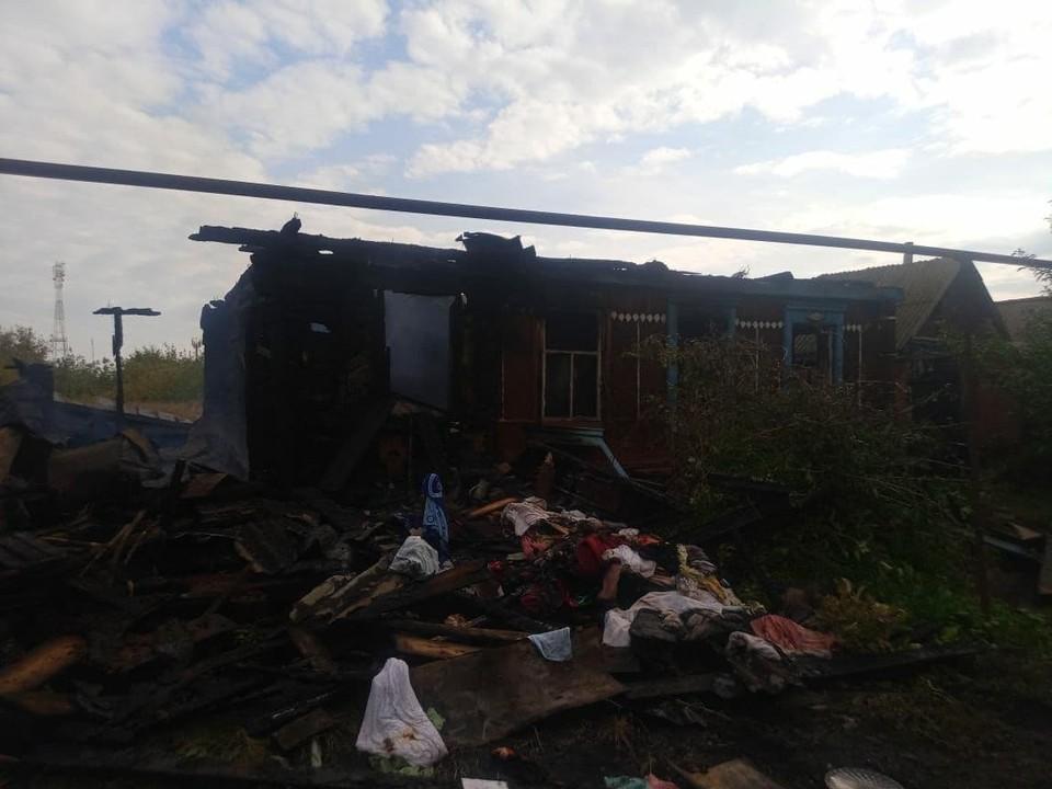 В Салтыковке из-за неисправной проводки сгорел частный дом