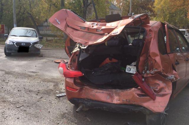 В тройной аварии на ул. Победы пострадала автоледи
